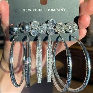 New York & Company: 6 NWT Pairs Earring Set